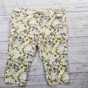 Lane Bryant Women's Floral Capri's Size 24